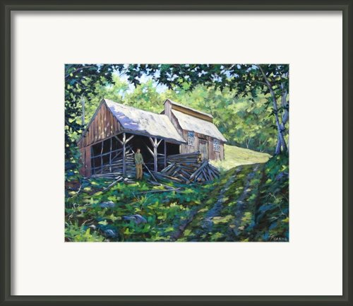 Sugar Shack In July Framed Print By Richard T Pranke