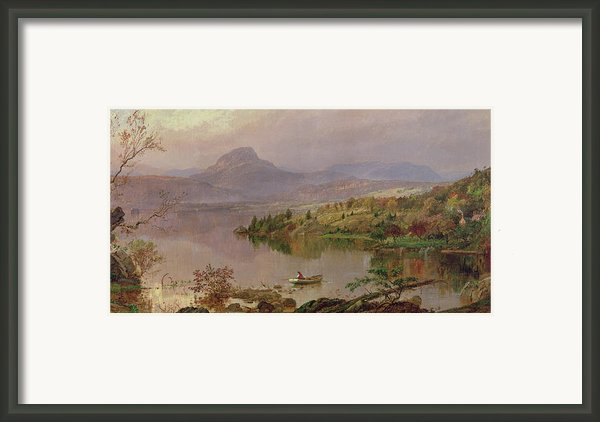 Sugarloaf From Wickham Lake Framed Print By Jasper Francis Cropsey