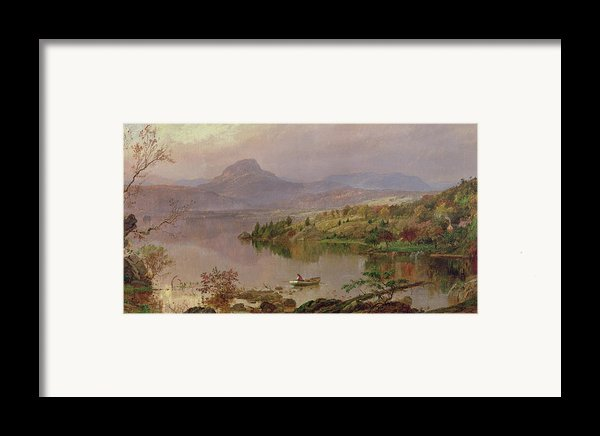 Sugarloaf From Wickham Lake Framed Print By Jasper Francis Cropsey