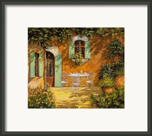 Sul Patio Framed Print By Guido Borelli