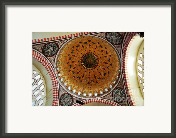 Sulemaniye Mosque Dome Framed Print By Dean Harte