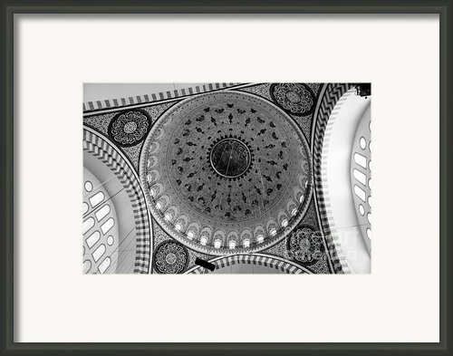 Sulemaniye Mosque Dome In Black And White Framed Print By Dean Harte
