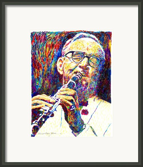 Sultan Of Swing - Benny Goodman Framed Print By David Lloyd Glover