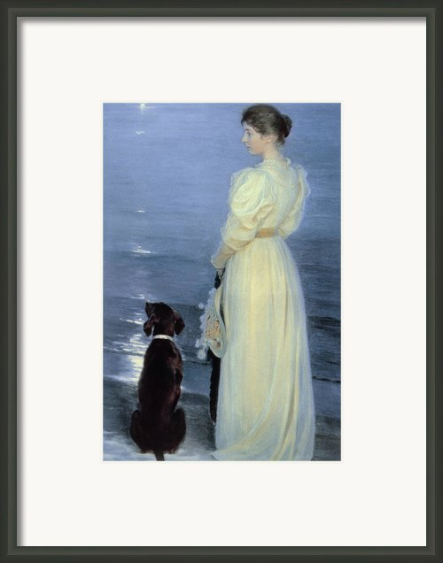 Summer Evening At Skagen Framed Print By Peder Severin Kroyer