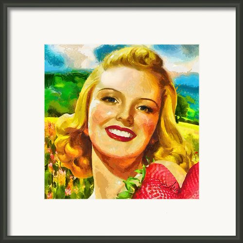 Summer Girl Framed Print By Mo T