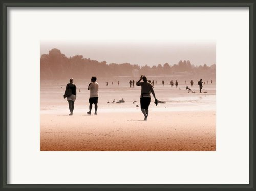 Summer Haze Framed Print By Barbara  White