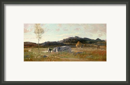 Summer Landscape Framed Print By Luigi Loir