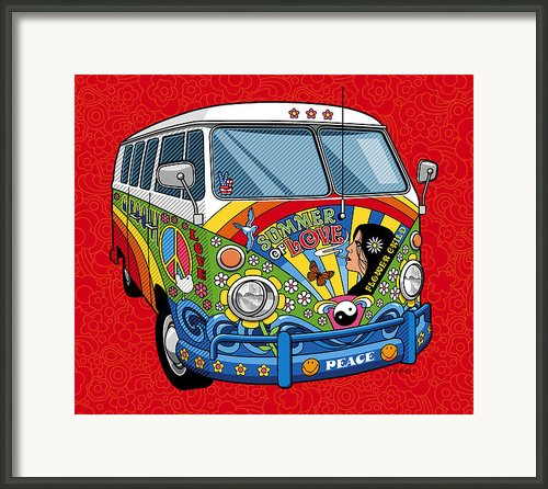 Summer Of Love Framed Print By Ron Magnes