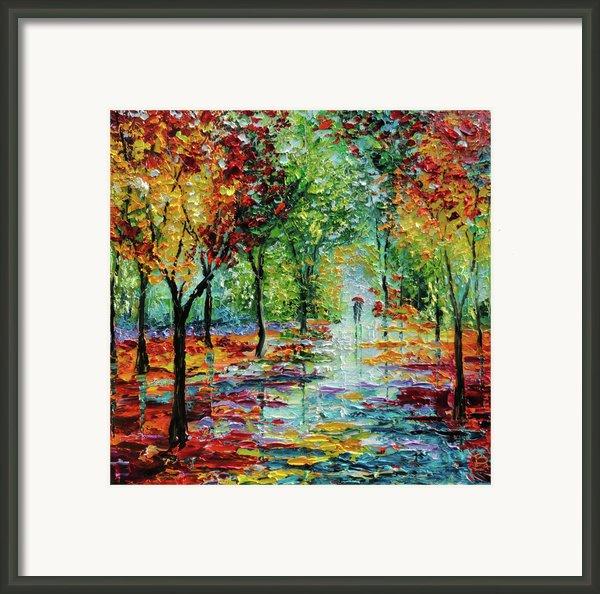 Summet Rain Framed Print By Beata Sasik
