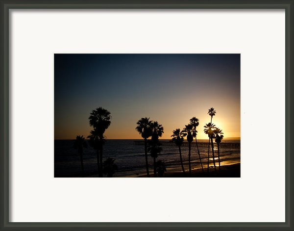 Sun Going Down In California Framed Print By Ralf Kaiser