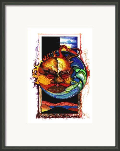 Sun Moon Framed Print By Anthony Burks