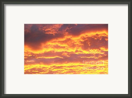 Sun On The Clouds Framed Print By Marsha Heiken