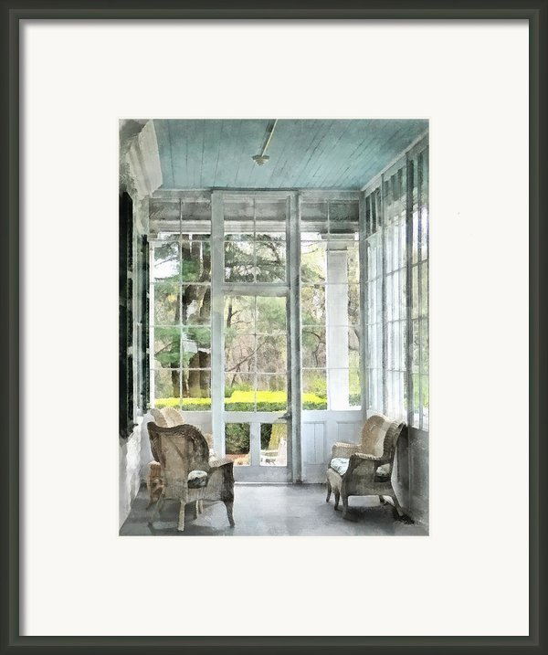 Sun Porch Framed Print By Susan Savad