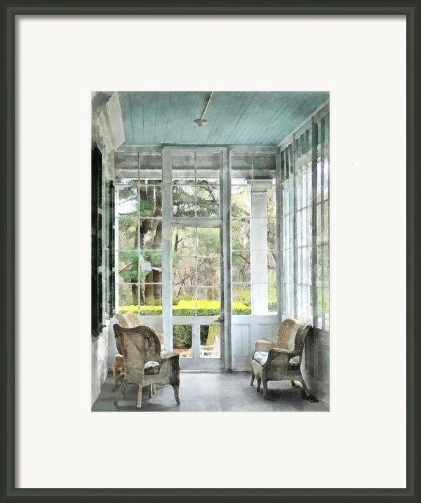 Sun Porch Framed Print By Susan Savad
