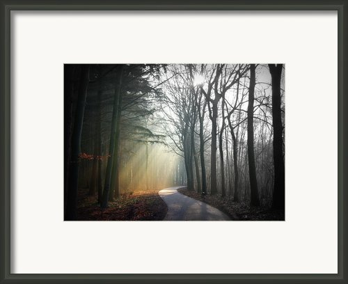 Sun Rays Coming Through Sky Framed Print By Bob Van Den Berg Photography
