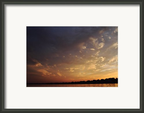 Sun Settles On Connecticut Framed Print By Karol  Livote