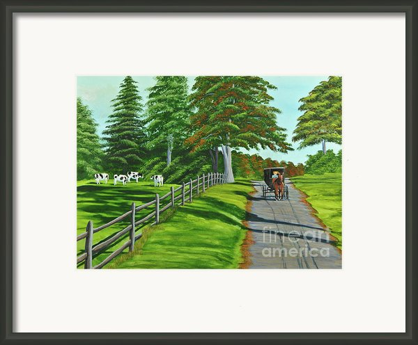 Sunday Drive Framed Print By Charlotte Blanchard