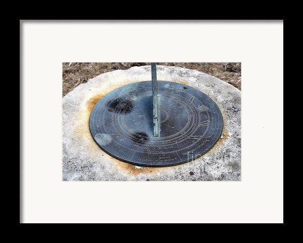 Sundial Framed Print By Joanne Kocwin