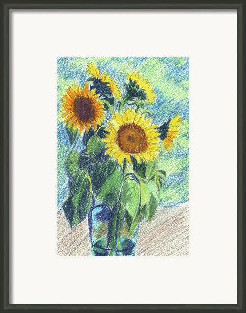 Sunflowers Framed Print By Mary Helmreich