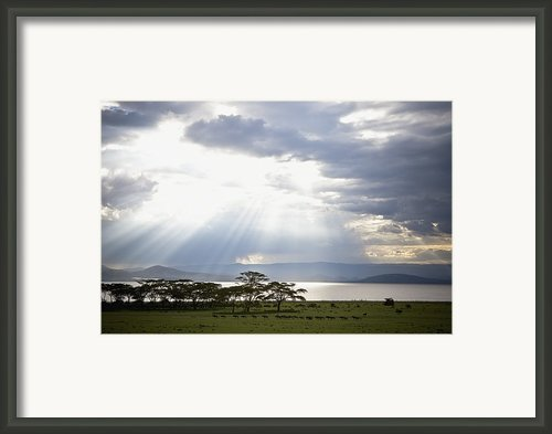 Sunlight Shines Down Through The Clouds Framed Print By David Duchemin