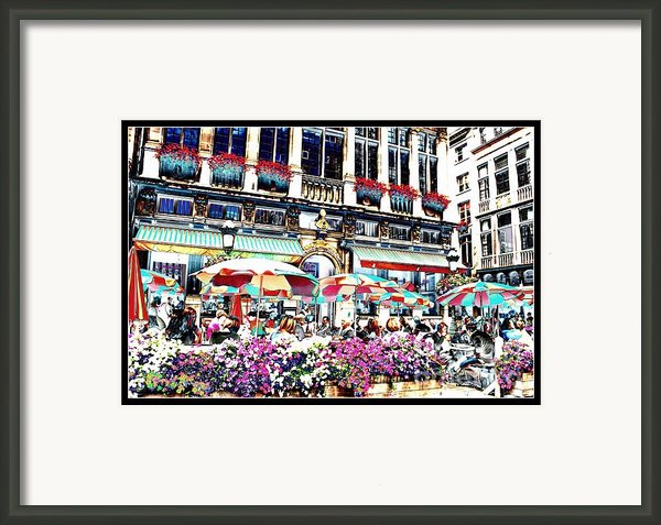 Sunny Day On The Grand Place Framed Print By Carol Groenen