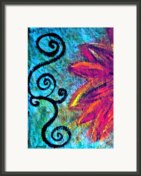 Sunny Day Purple Framed Print By Gwyn Newcombe