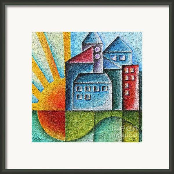 Sunny Town Framed Print By Jutta Maria Pusl