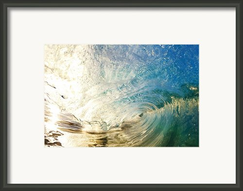 Sunrise And Wave Framed Print By Quincy Dein - Printscapes