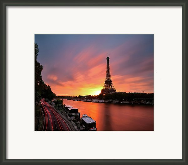Sunrise At Eiffel Tower Framed Print By © Yannick Lefevre - Photography