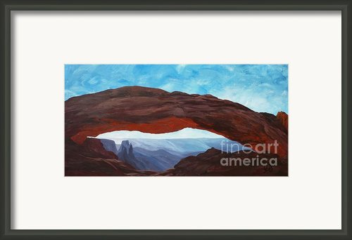 Sunrise At Mesa Arch Framed Print By Estephy Sabin Figueroa