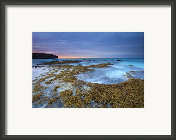 Sunrise Beneath The Storm Framed Print By Mike  Dawson