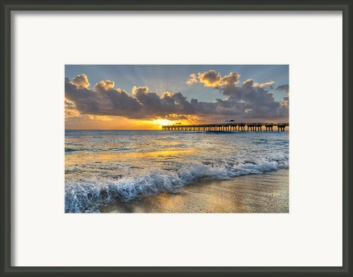 Sunrise Lights Framed Print By Debra And Dave Vanderlaan