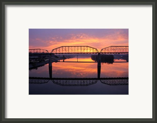 Sunrise Walnut Street Bridge 2 Framed Print By Tom And Pat Cory