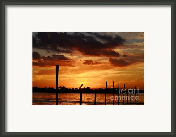 Sunset 1-1-12 Framed Print By Lynda Dawson-youngclaus