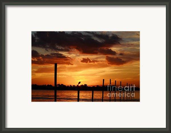 Sunset 1-1-12 Framed Print By Lynda Dawson-youngclaus