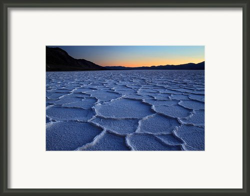 Sunset At Badwater In Death Valley Framed Print By Pierre Leclerc