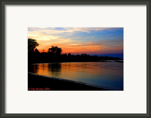 Sunset At Colonial Beach Cove Framed Print By Clayton Bruster