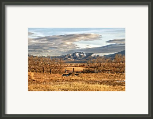 Sunset At Elk Mountain Wy Framed Print By James Steele