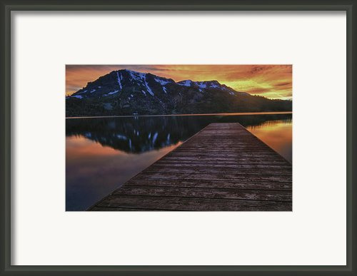 Sunset At Fallen Leaf Lake Framed Print By Jacek Joniec