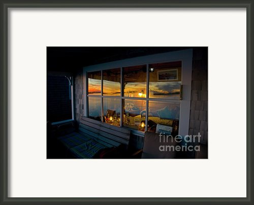 Sunset At Fletchers Camp Framed Print By Charles Harden