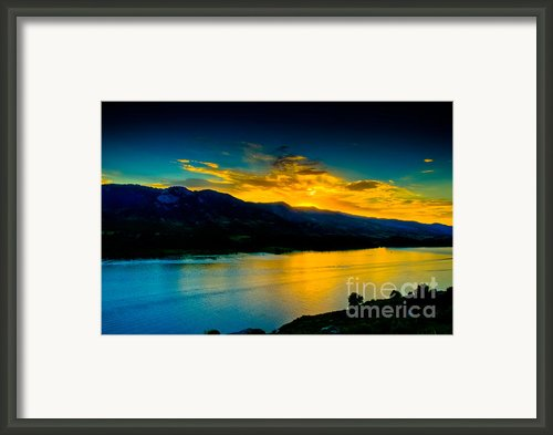 Sunset At Horsetooth Reservoir Framed Print By Harry Strharsky