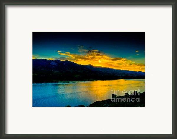 Sunset At Horsetooth Reservoir Framed Print By Harry Strharsky