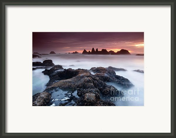 Sunset At Seal Rock Framed Print By Keith Kapple