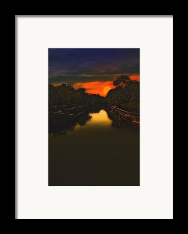 Sunset At The Old Canal Framed Print By Tom York Images