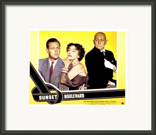 Sunset Boulevard, William Holden Framed Print By Everett