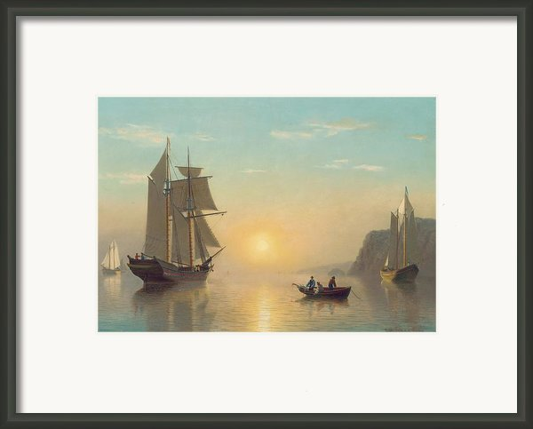 Sunset Calm In The Bay Of Fundy Framed Print By William Bradford