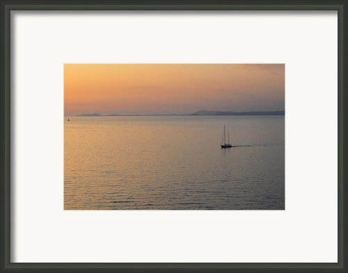 Sunset Cruise Framed Print By