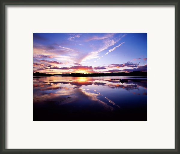 Sunset, Dinish Island Kenmare Bay Framed Print By The Irish Image Collection