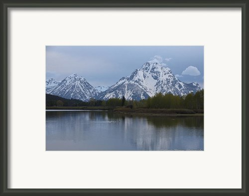 Sunset Grand Tetons Framed Print By Charles Warren