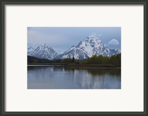 Sunset Grand Tetons Framed Print By Charles Warren